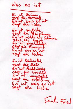 Lyric Erich Fried