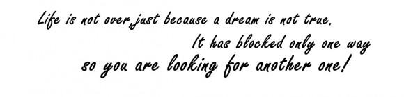 lebe nicht dein leben sondern lebe deinen traum