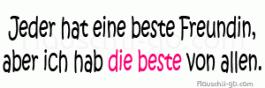 - Beste Freundin!