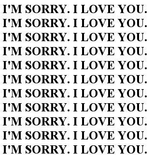 tut mir leid dass